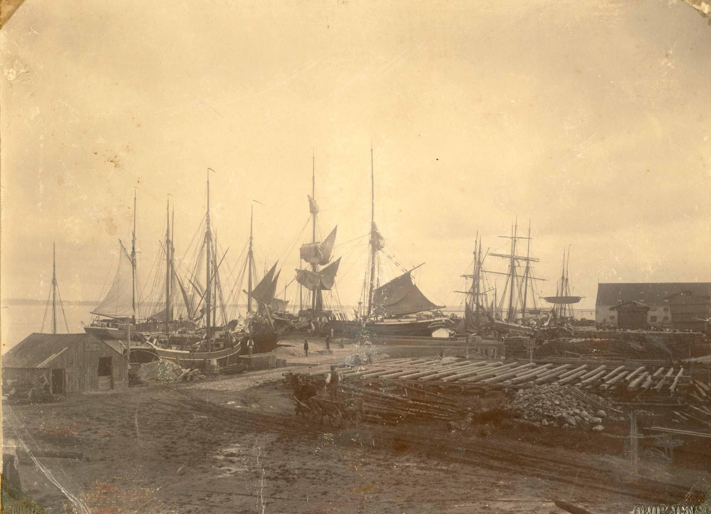 Præstø havn omkring 1875